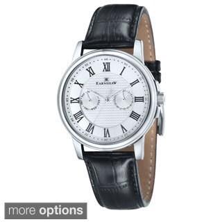 Earnshaw Men's Flinders Stainless Steel Multi-function Leather Watch