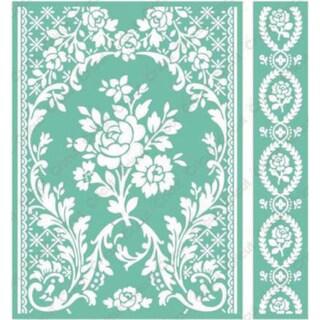 Cricut 5x7 Rose Pavillion Embossing Folder