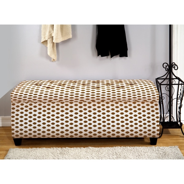 The Sole Secret Jojo Brown Shoe Storage Bench