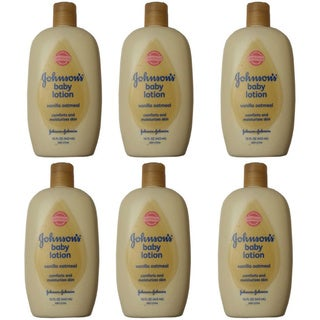 Johnson & Johnson Vanilla Oatmeal 15-ounce Baby Lotion (Pack of 6)