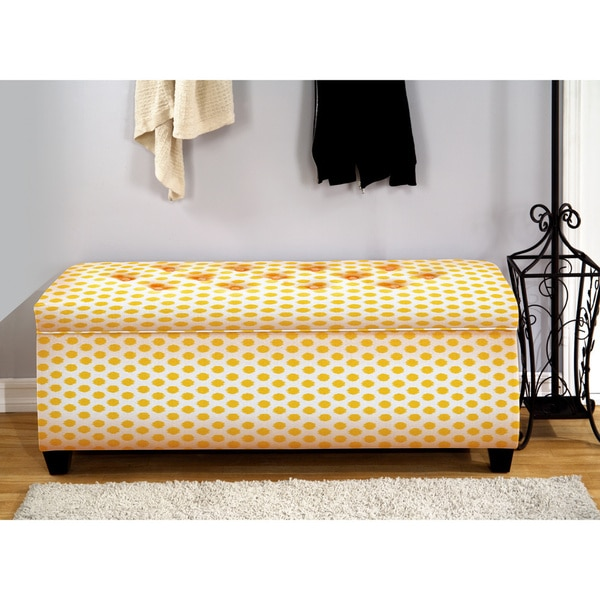 The Sole Secret Jojo Yellow Shoe Storage Bench