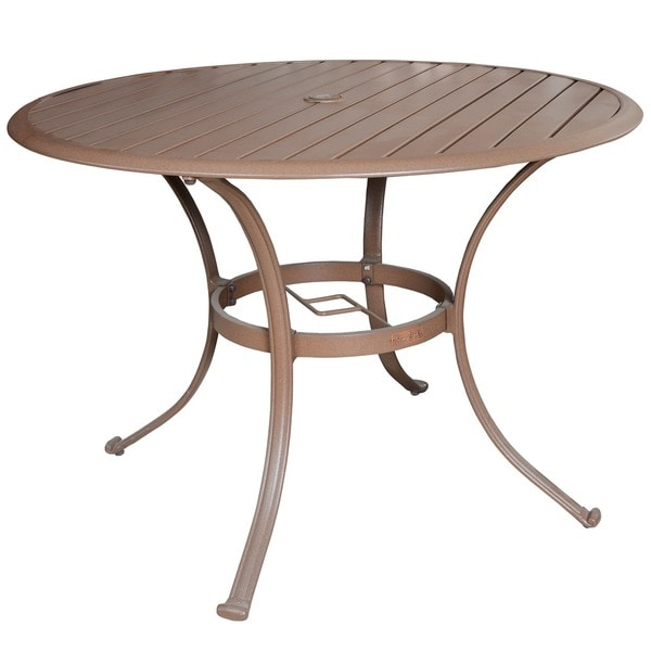 flair to your outdoor decor with the island breeze round dining table