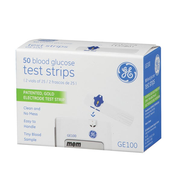 GE Blood Glucose Test Strips (Pack of 50)