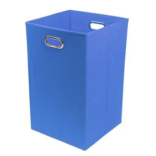 Bold Solid Blue Folding Laundry Basket