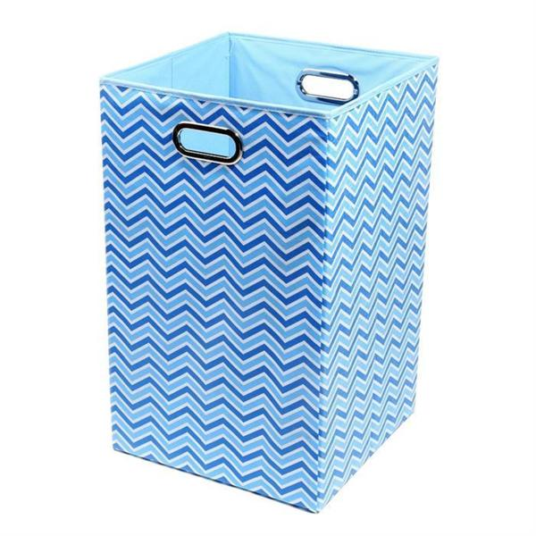 Sky Zig Zag Folding Laundry Basket