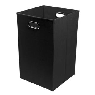 Smarty Pants Solid Black Folding Laundry Basket