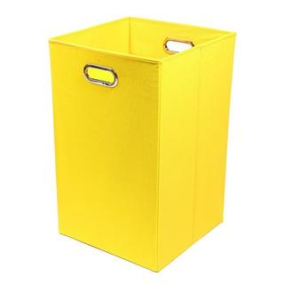 Sweets Solid Yellow Folding Laundry Basket