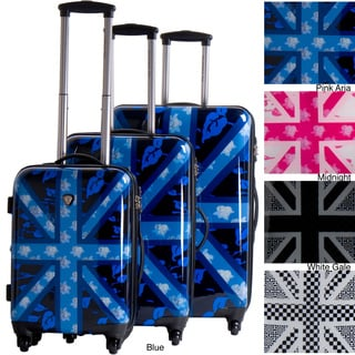 CalPak Union Jack 3-piece Hardside Spinner Luggage Set