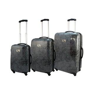 Chariot Crocodile 3-piece Hardside Spinner Luggage Set