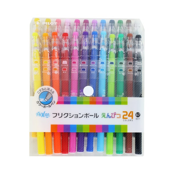 Pilot FriXion Erasable Gel Ink Pens, Assorted Colors (Pack of 24)