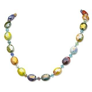 PalmBeach Kaleidoscope Art Glass Necklace Color Fun