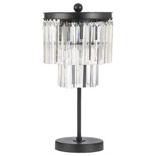 Odeon Glass Fringe 3-light Table Lamp