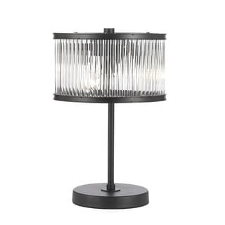 Contemporary 3-light Crystal Rod Iron Table Lamp