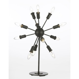 Contemporary 12-light Iron Table Lamp