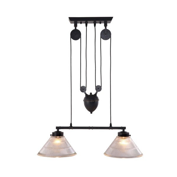 Antique Black Gold Metal Garnet Ceiling Lamp 13244704