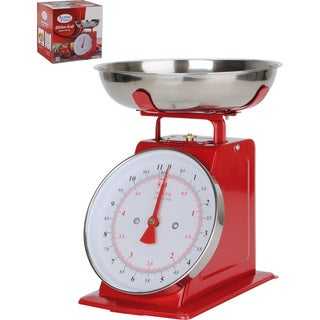 Alpine Cuisine Red Stainless Steel Kitchen Scale