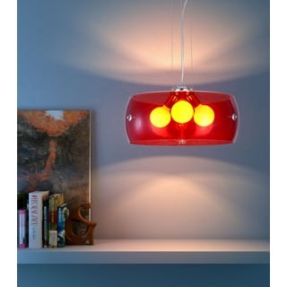 Red Chrome Asteroids Ceiling Lamp