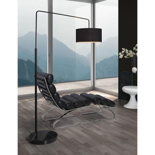 Vapor Black Marble Floor Lamp