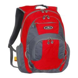 Everest Deluxe Traveler's Laptop Backpack Red/Grey