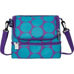 Children's Wildkin Double Decker Lunch Bag Big Dots Aqua