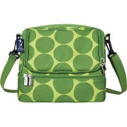 Children's Wildkin Double Decker Lunch Bag Big Dots Green