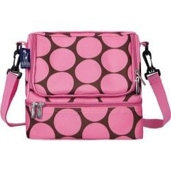 Children's Wildkin Double Decker Lunch Bag Big Dots Hot Pink