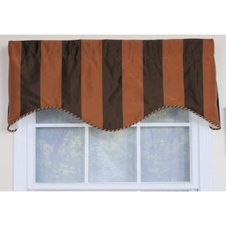 Pascal Faux Silk Stripe Cornice Window Valance