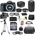 Canon EOS 70D DSLR Camera Body with EF 50mm f/1.8 II and EF 75-300mm f/4-5.6 III Lenses 32GB Bundle