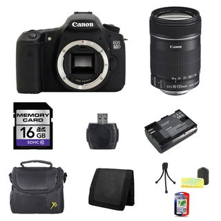 Canon EOS 60D DSLR Camera Body with EF-S 18-135mm f/3.5-5.6 IS Lens 16GB Bundle