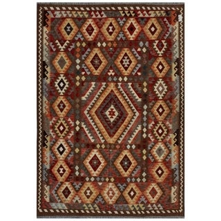 Herat Oriental Semi-antique Afghan Hand-knotted Tribal Balouchi Brown/ Salmon Wool Rug (2'7 x 4'2)