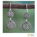 Sterling Silver 'All My Valentines' Earrings (India)