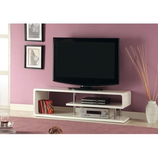 Furniture of America Diantha Glossy Off-White TV Console