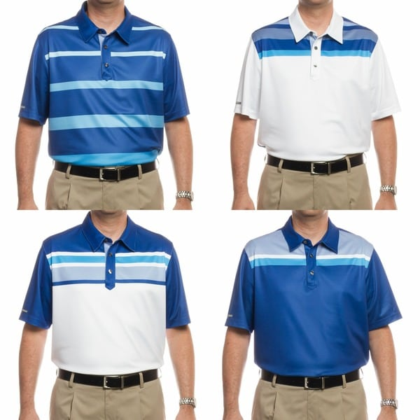 Ashworth Men's British Open Collection Golf Polo Shirts (Assorted 4 Pack)