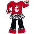 AnnLoren Girls Boutique Frosty the Snowman Christmas Outfit