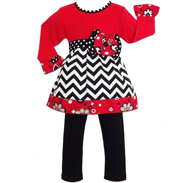 AnnLoren Girls Boutique Chevron Floral Outfit