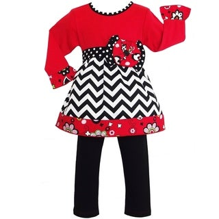 AnnLoren Girls Boutique Chevron Floral Outfit