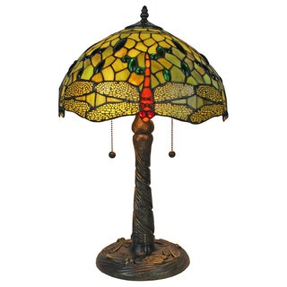 Tiffany Style Dragonfly Design 22-inch Table Lamp