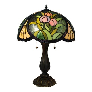 Amora Lighting Tiffany Style Tulips Design 23-inch Table Lamp