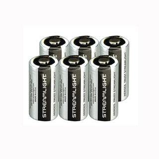 Streamlight CR123A (3V) Silver Lithium Batteries (Pack of 6)