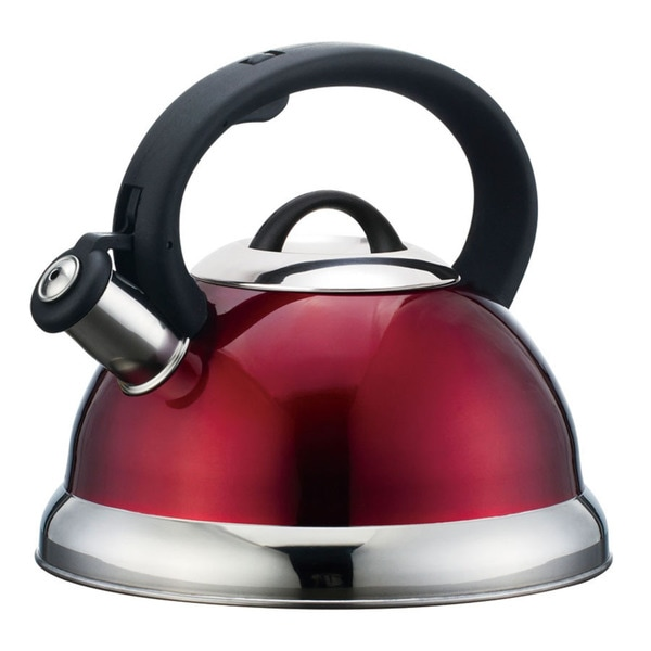 Alpine cuisine whistling red tea kettle overstock for Alpine cuisine tea kettle