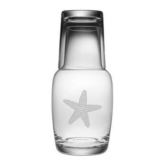 Starfish Bedside Carafe and Glass Set