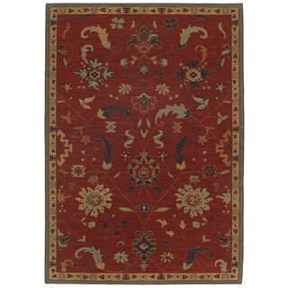Woven Karastan English Manor Preston Red Wool Rug (8' x 10'5)