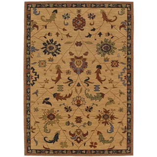Karastan English Manor Preston Beige Wool Rug (8' x 10'5)
