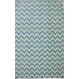 American Rug Craftsmen Crib 2 College Fun Lines Blue Rug (5' x 8')