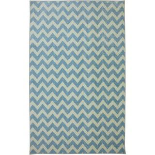 American Rug Craftsmen Crib 2 College Fun Lines Blue Rug (8' x 10')