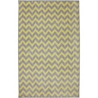 American Rug Craftsmen Crib 2 College Fun Lines Yellow Rug (5' x 8')
