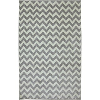 American Rug Craftsmen Crib 2 College Fun Lines Gray Rug (8' x 10')
