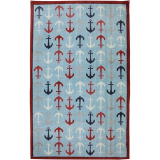 American Rug Craftsmen Crib 2 College Anchors Blue Rug (5' x 8')
