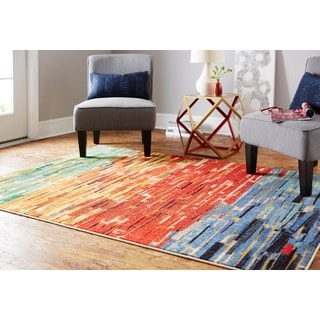 Bits of Strips Multi Rug (5' x 7')