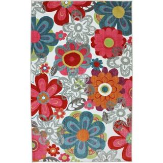 American Rug Craftsmen Crib 2 College Teen Floral Rug (5' x 8')